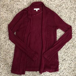 Burgundy detailed cardigan by Skies Are Blue